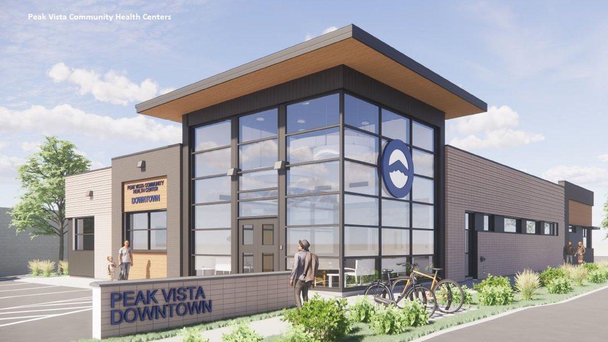 Peak Vista Community Health Center Downtown rendering