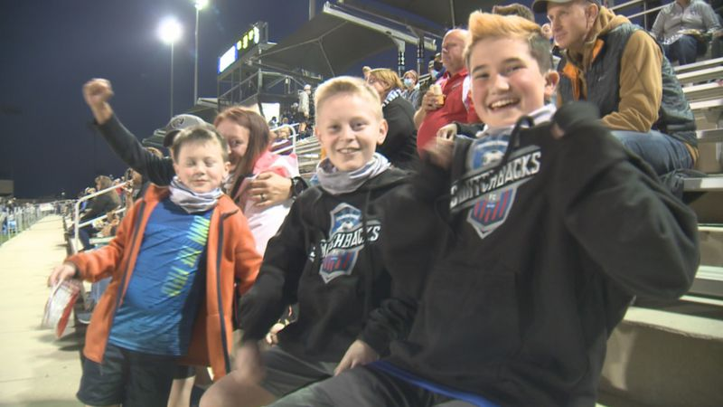 Switchbacks FC fans cheer on the team Wednesday night in the final game at Weidner Field
