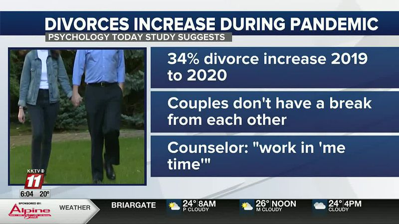 Pandemic likely to blame for rising divorce rates