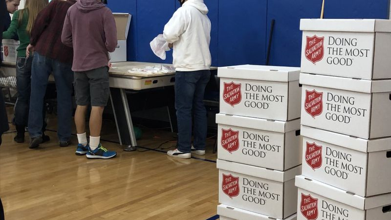 The Salvation Army spent Christmas handing out free meals to people in El Paso County.