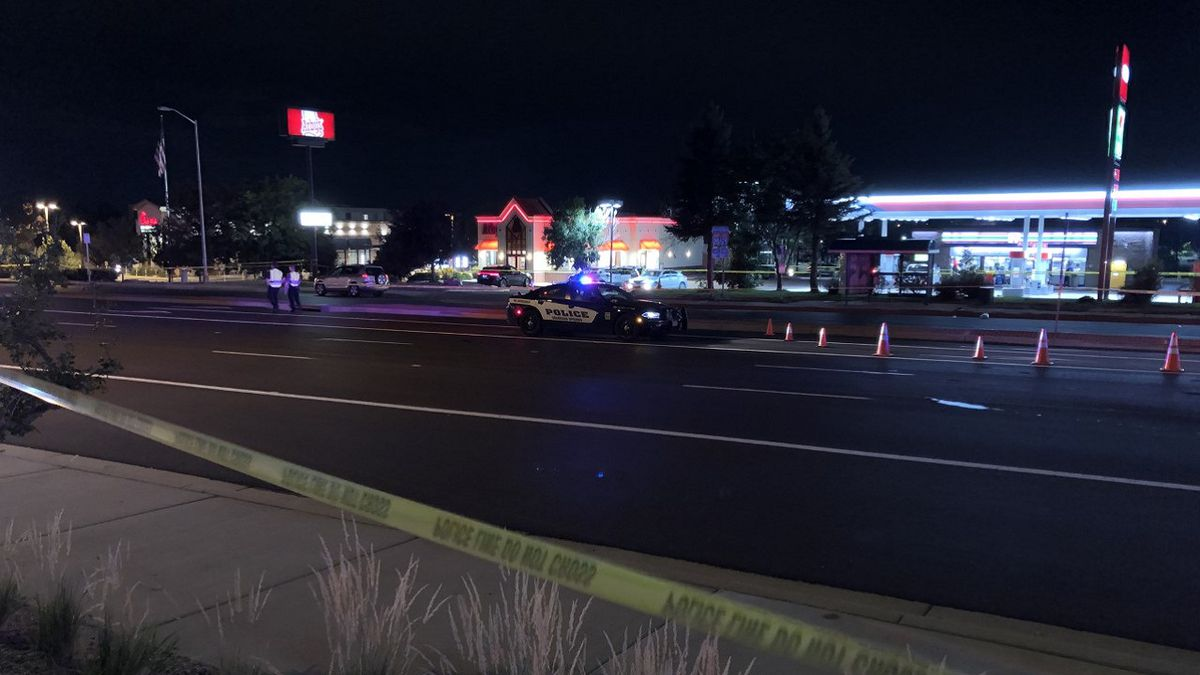 Serious crash involving a pedestrian in Colorado Springs 8/31/20.