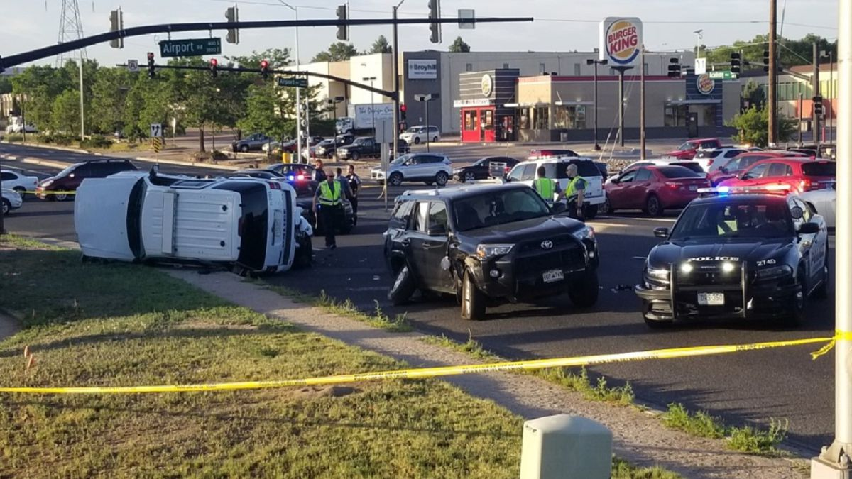 A CSPD vehicle was involved in a crash on July 10, 2020.