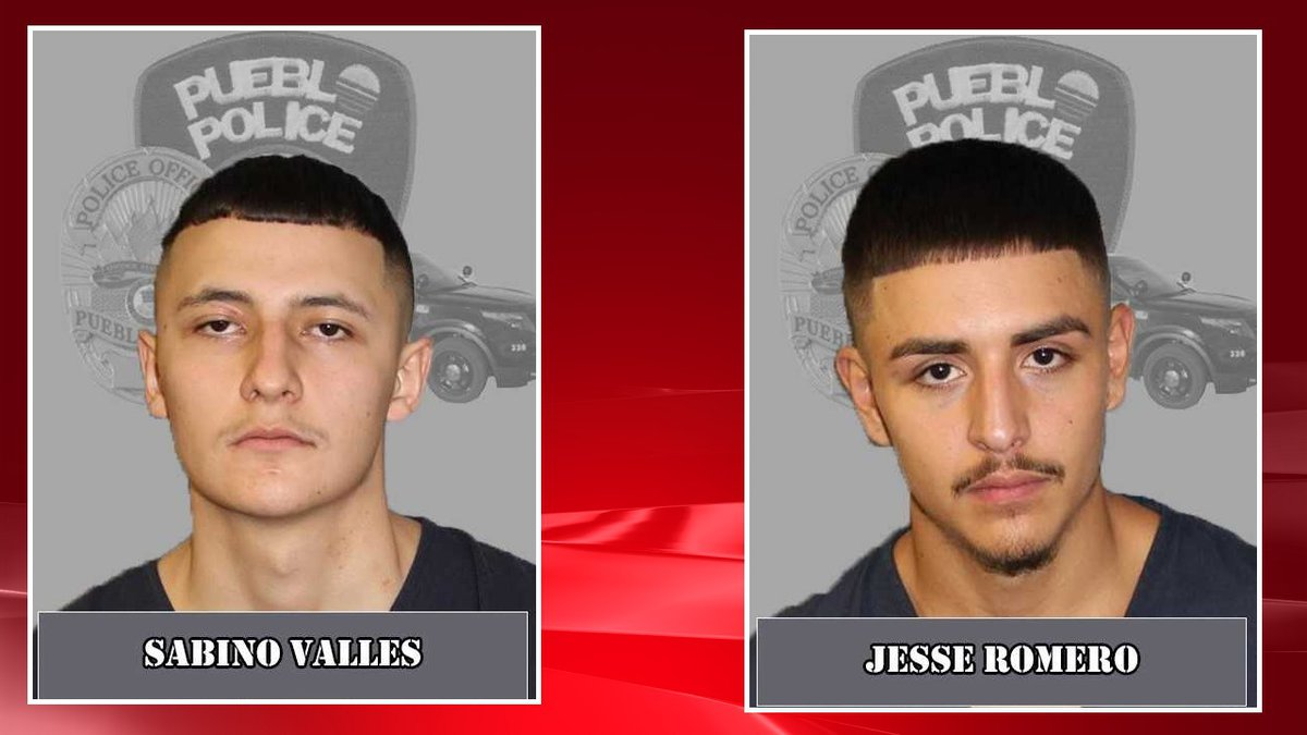Two suspects are wanted in the murder of a Colorado teen.  Photos courtesy Pueblo PD.