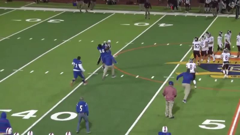 A Texas high school football player hit a referee after he was disqualified from the game.