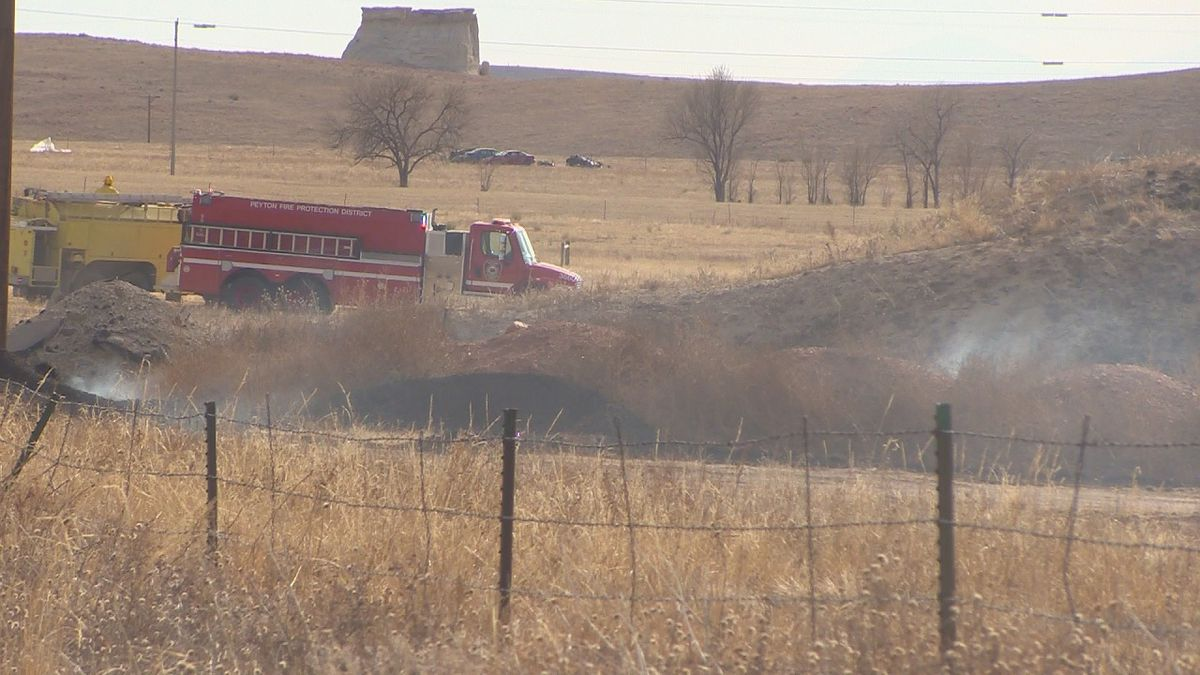 A fire threatened homes in El Paso County on 11/16/19.