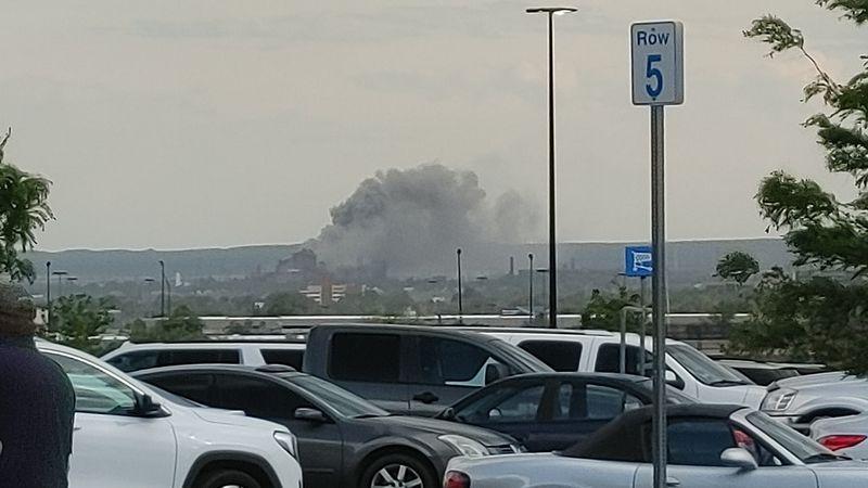 Fire at the Evraz Steel Mill in Pueblo 5/29/21.