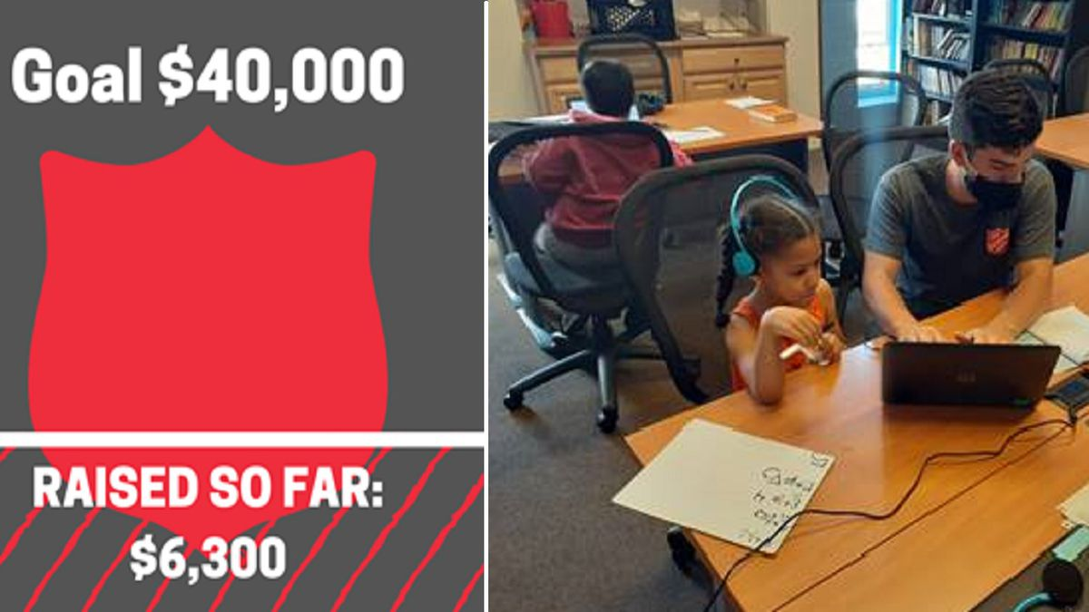 Money raised for the Salvation Army's Remote Learning Center as of 9/14/20.