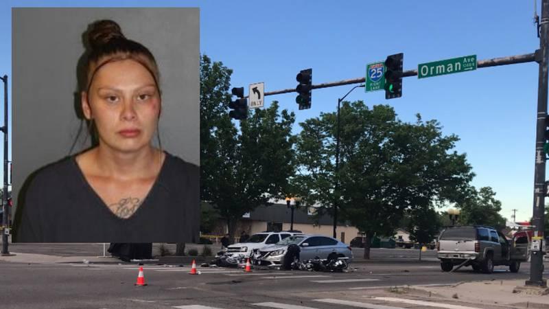 Deadly motorcycle crash at Northern Ave & Orman Ave Saturday. Pueblo Police arrested Alisha...