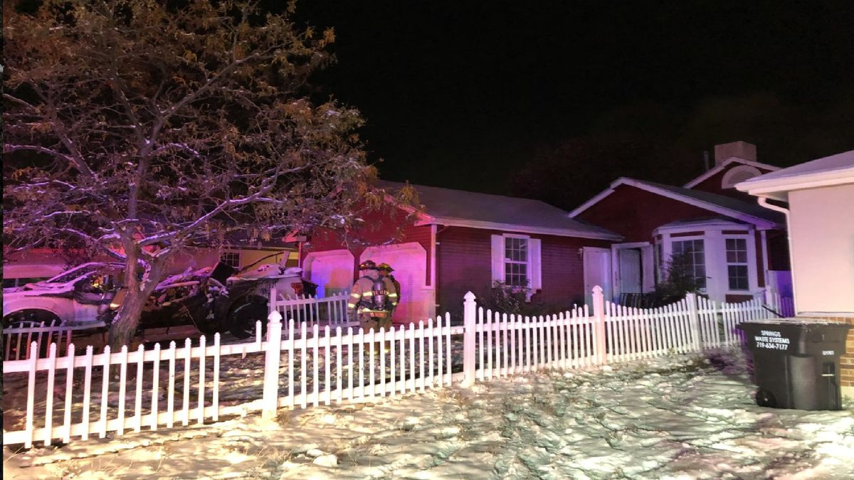 Crews responded to a house fire in southeast Colorado Springs on 10/26/20.