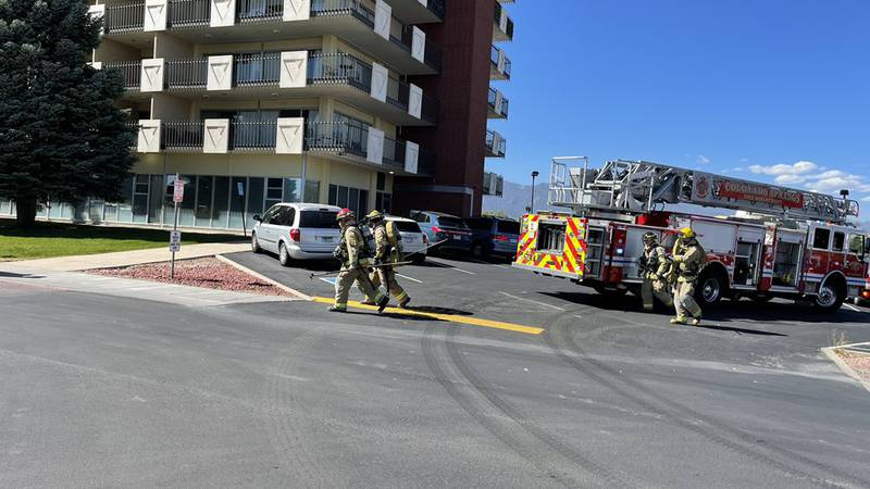 Firefighters arriving on the scene of a reported fire in the Satellite Hotel in east Colorado...