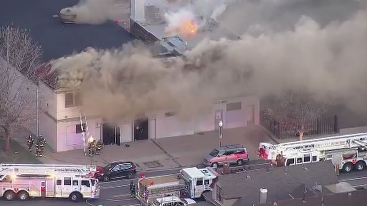 Fire burning in Denver Thursday morning