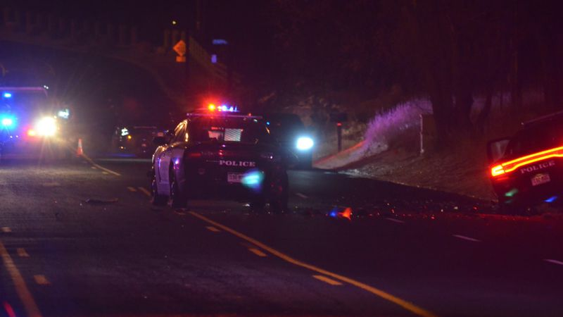 Two CSPD cars crashed into each other early Saturday morning.