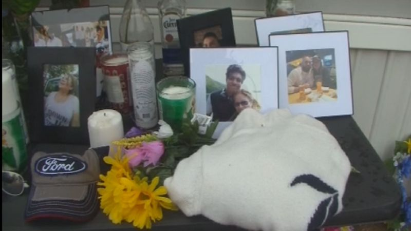 A growing memorial dedicated to the victims of a mass shooting in Colorado Springs.